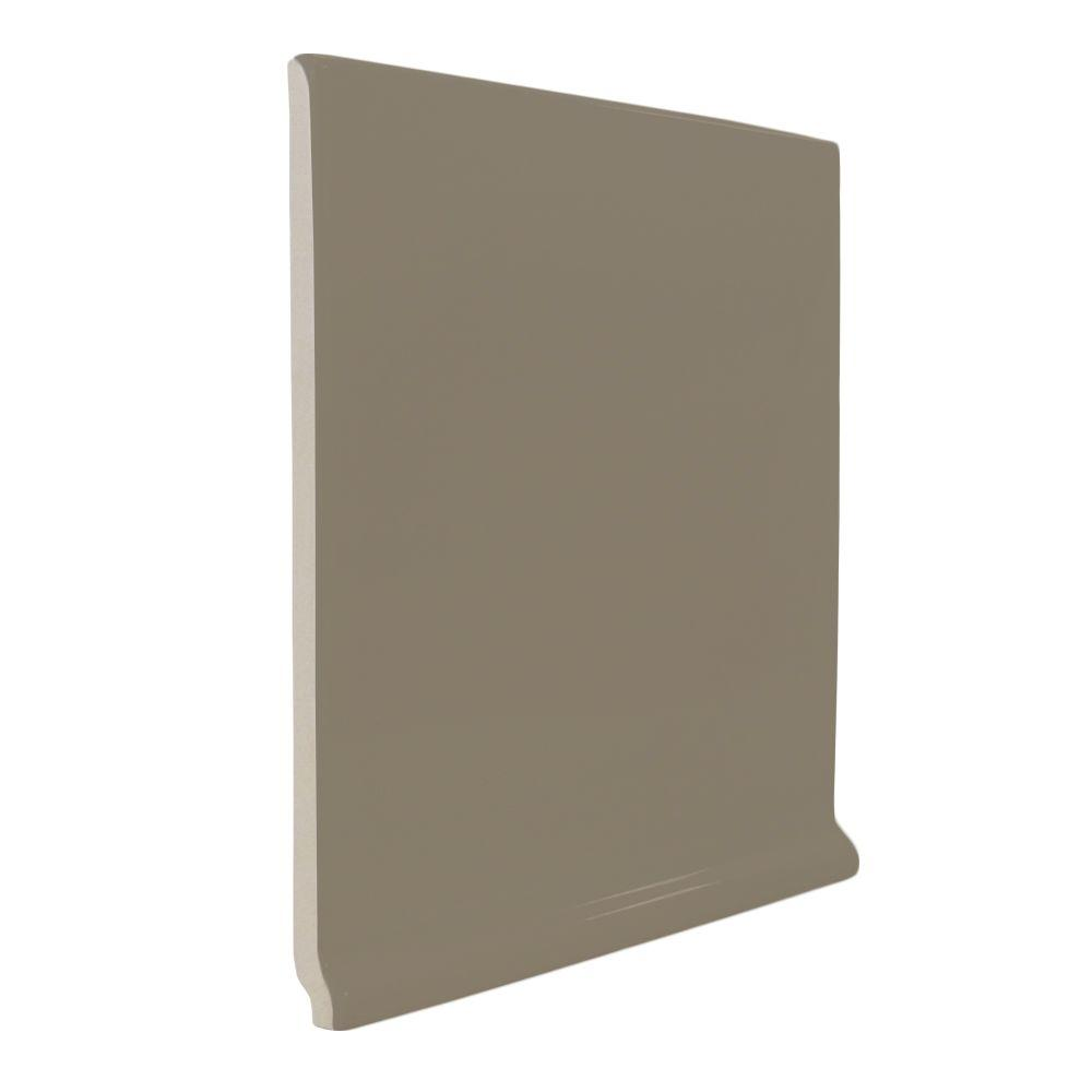U.S. Ceramic Tile Color Collection Matte Cocoa 6 in. x 6 in. Ceramic Stackable Left Cove Base Corner Wall Tile-DISCONTINUED
