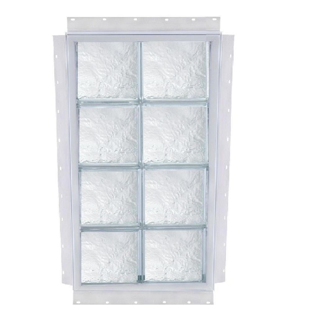 24 x 72 window aluminum tafco windows 24 in 72 nailup ice pattern solid glass block window