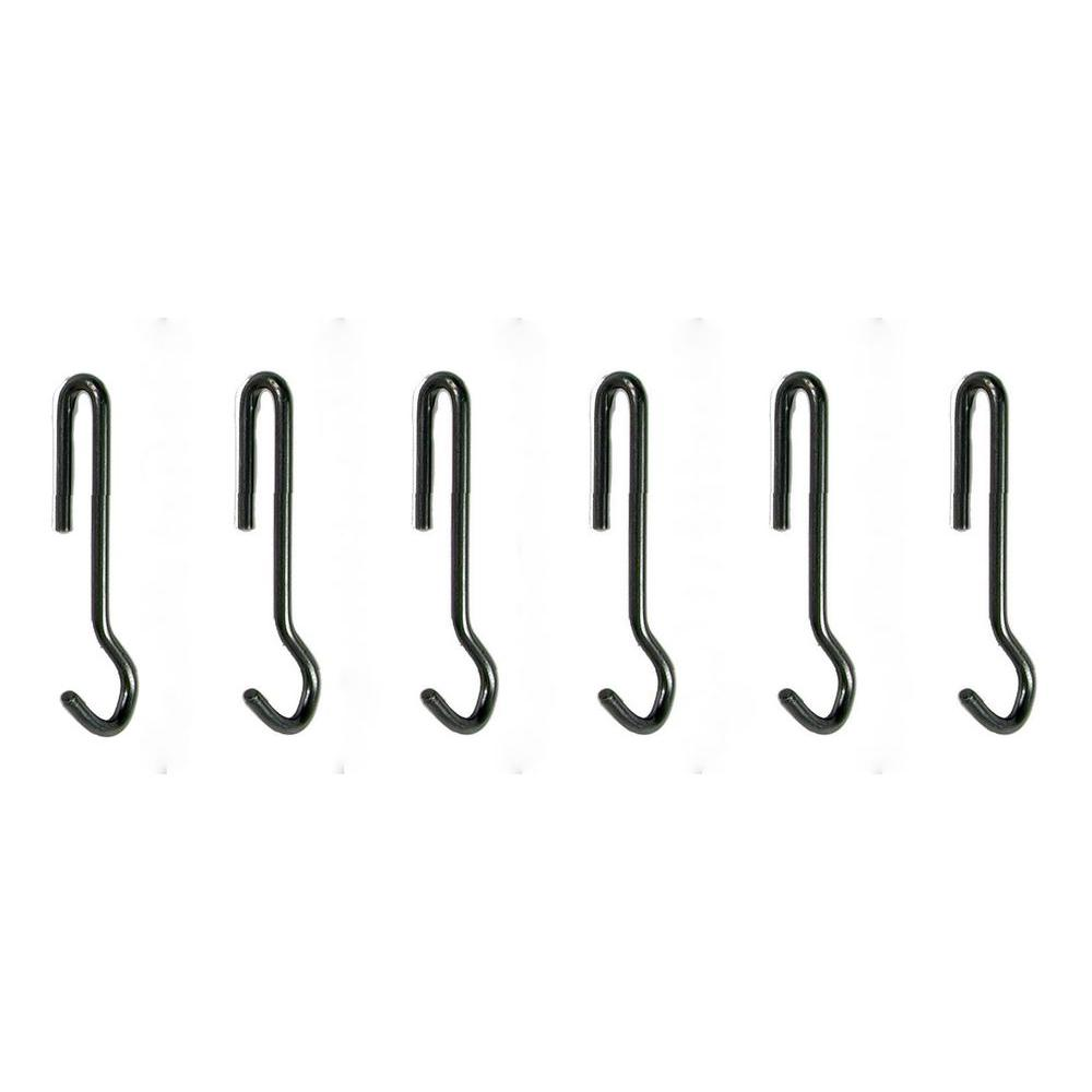 Enclume Design Angled Pot Hook Set of 6 Use with Pot Rack...