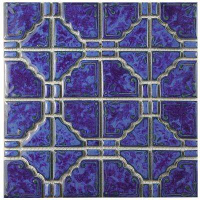 Moonbeam Blue Cloud 11-3/4 in. x 11-3/4 in. x 7 mm Porcelain Mosaic Tile
