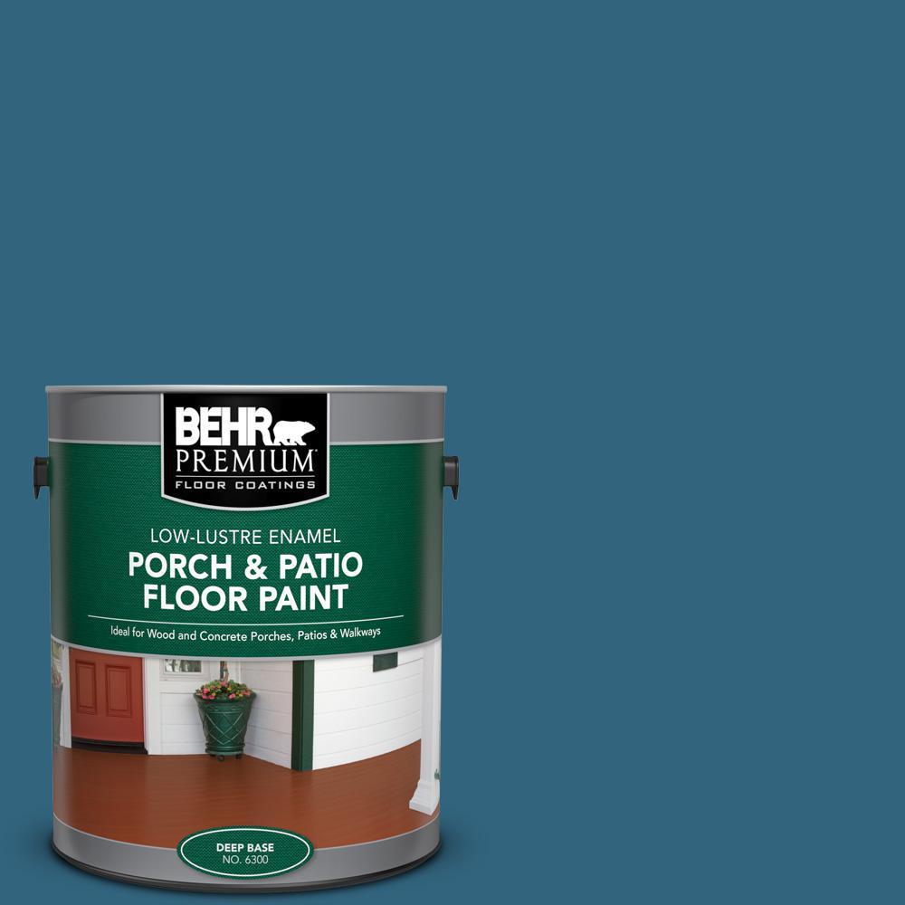 Behr Premium 1 Gal M480 7 Ice Cave Low Lustre Enamel Interior Exterior Porch And Patio Floor Paint 630001 The Home Depot