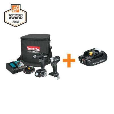 18-Volt 2.0Ah Lithium-Ion Sub-Compact BL Combo Kit (2-Piece) with Bonus 18-Volt 2.0Ah Compact Lithium-Ion Battery