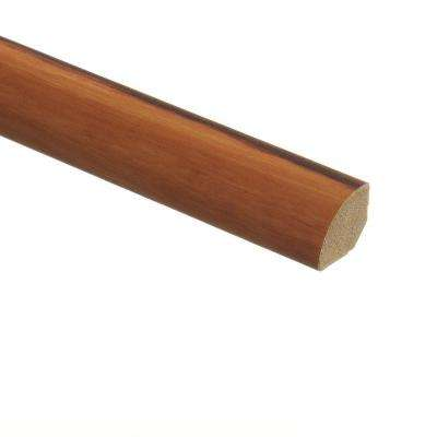 African Wood Dark 5/8 in. Thick x 3/4 in. Wide x 94 in. Length Vinyl Quarter Round Molding