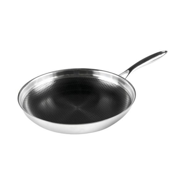 Black Cube 11 in. Stainless Steel Nonstick Frying Pan