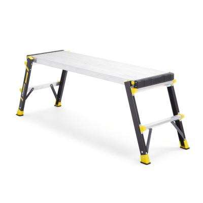 47 in. x 14 in. x 20 in. Fiberglass Slim-Fold Work Platform with 375 lb. Load Capacity