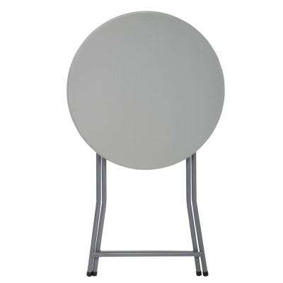 Commercial Heavy Duty 2.5 ft. Round Folding Cocktail Table in White