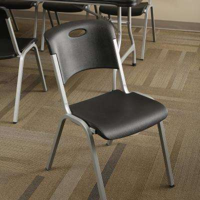 Black Stacking Utility Chair (Set of 4)