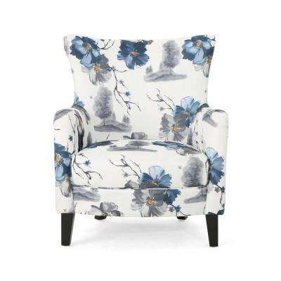 Arabella Multi-Colored Floral Fabric Club Chair