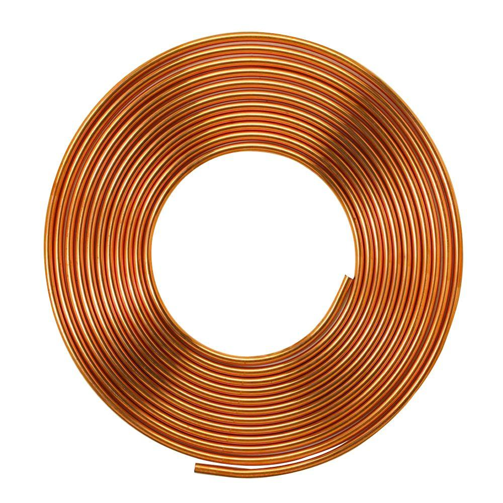 Mueller streamline 3 4 in i d x 60 ft copper soft type for Used copper pipe