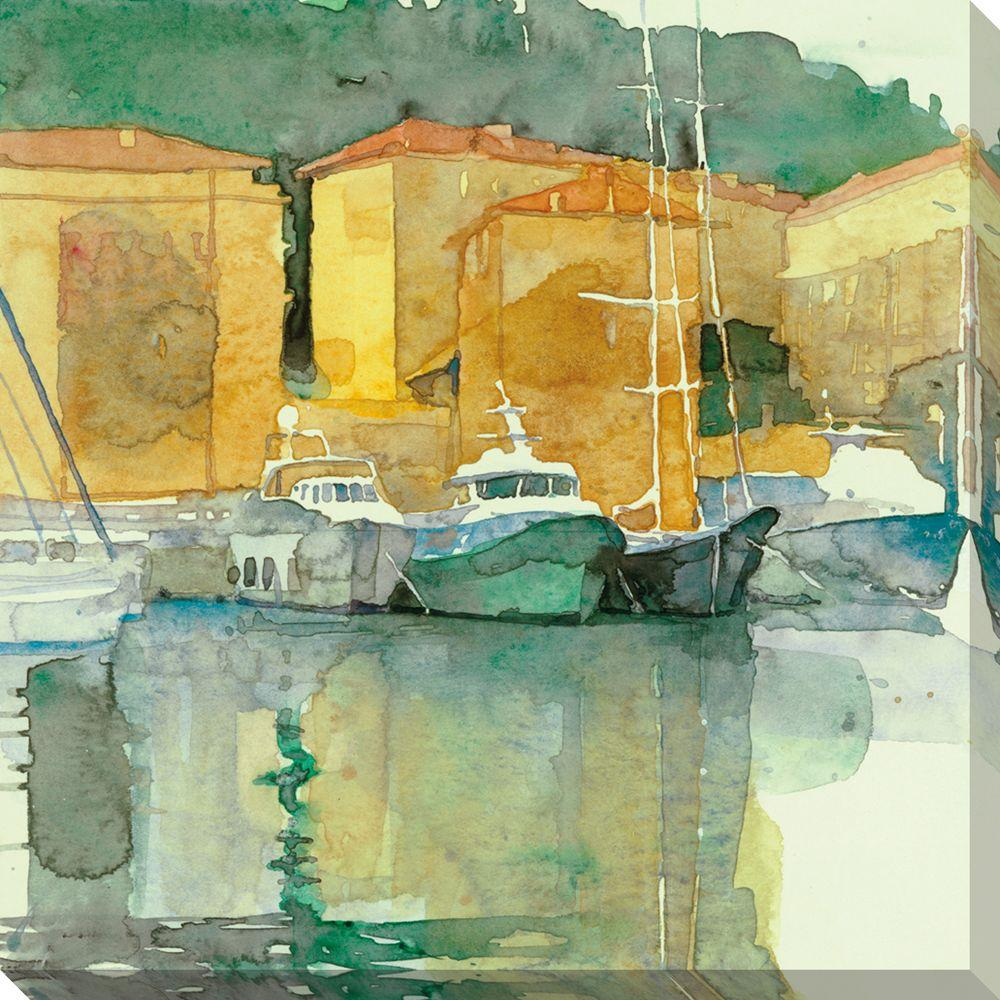 NEP Art 40 in. x 40 in. Still Harbor Oversized Canvas Gallery Wrap