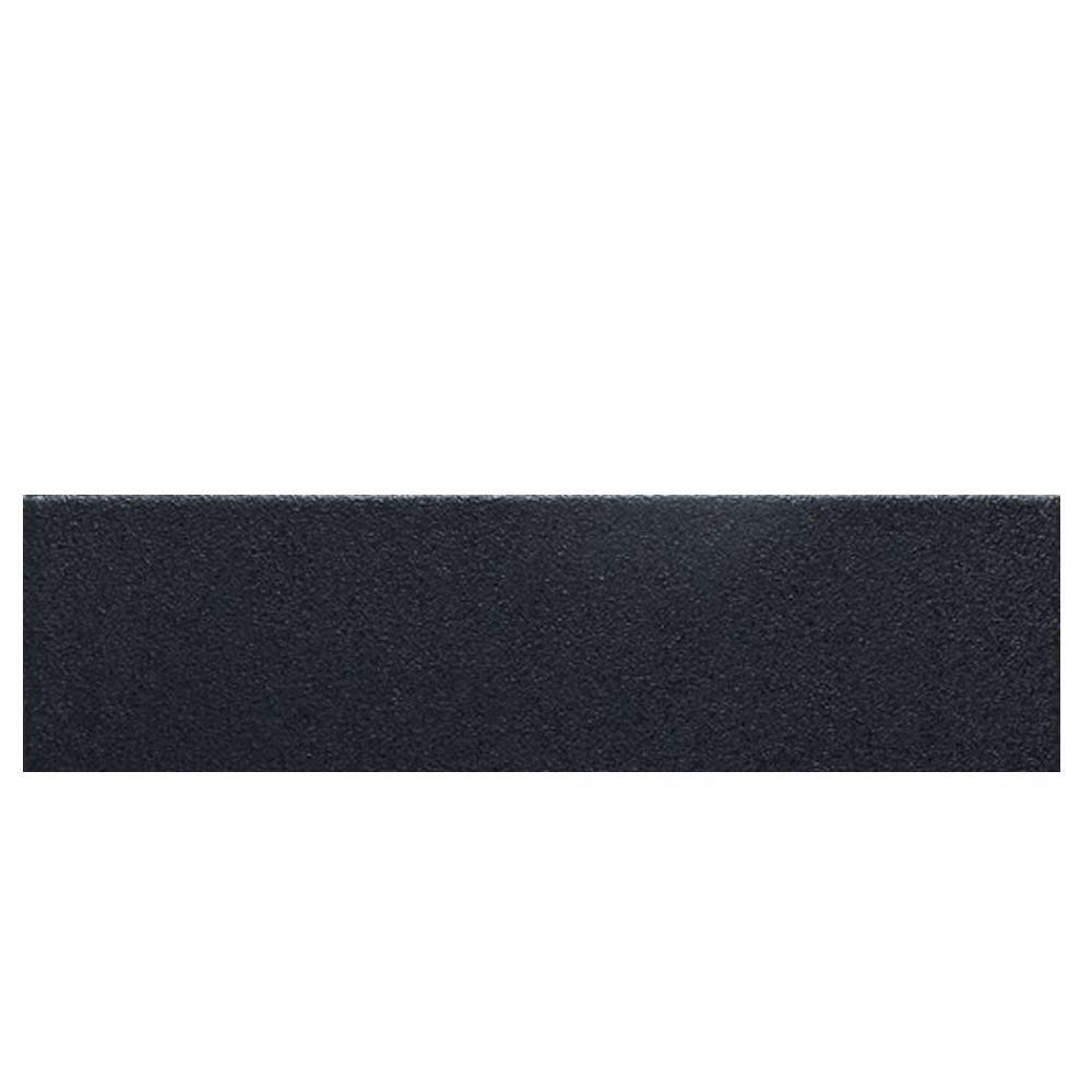 Daltile Colour Scheme Black Solid 3 in. x 12 in. Porcelain Bullnose Trim Floor and Wall Tile