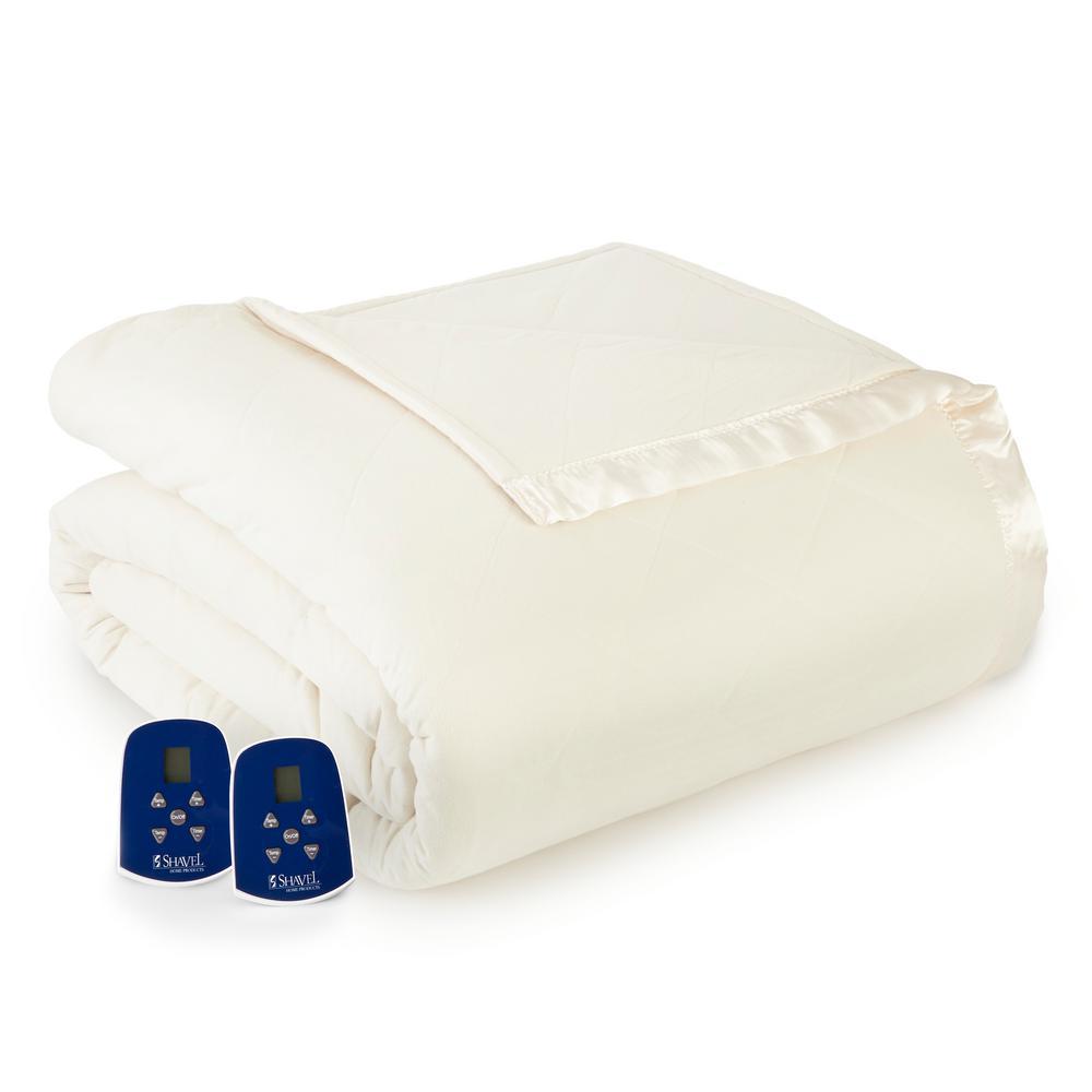 Queen Ivory Electric Heated Comforter/Blanket