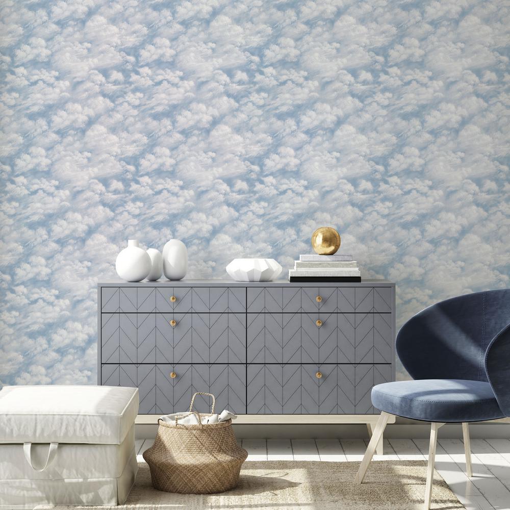 Tempaper Clouds Sky Blue L And Stick