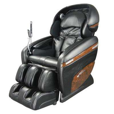 Pro Dreamer Series Black Faux Leather Reclining Massage Chair with 3D S-Track, Built-in MP3 Speakers, and Foot Rollers