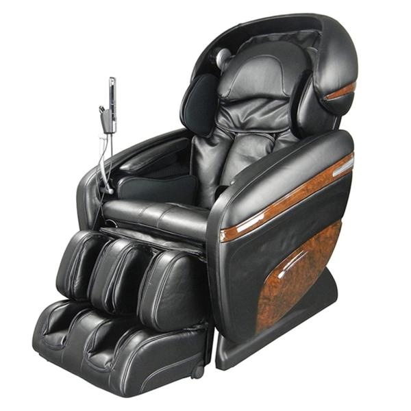 TITAN Pro Dreamer Series Black Faux Leather Reclining Massage Chair with 3D S-Track, Built-in MP3 Speakers, and Foot Rollers