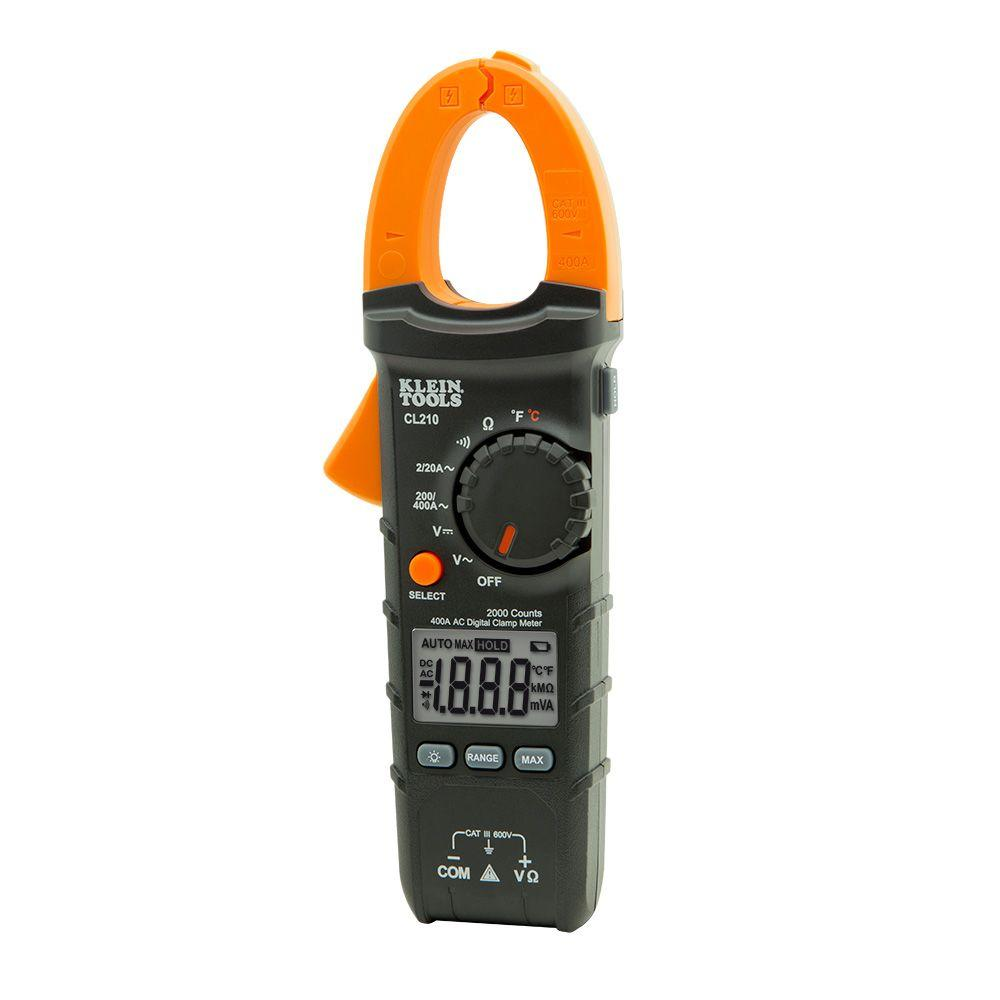 A Digital Clamp Meter 400 : Klein tools amp ac auto ranging digital clamp meter
