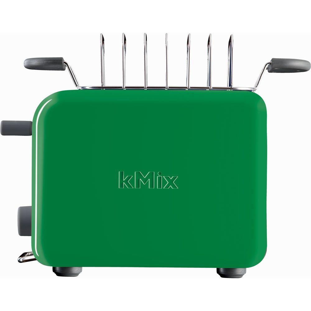 DeLonghi kMix 2-Slice Toaster with Bun Warmer in Green-DISCONTINUED