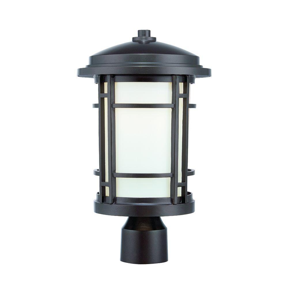 Barrister 9 in. Burnished Bronze LED Post Lantern