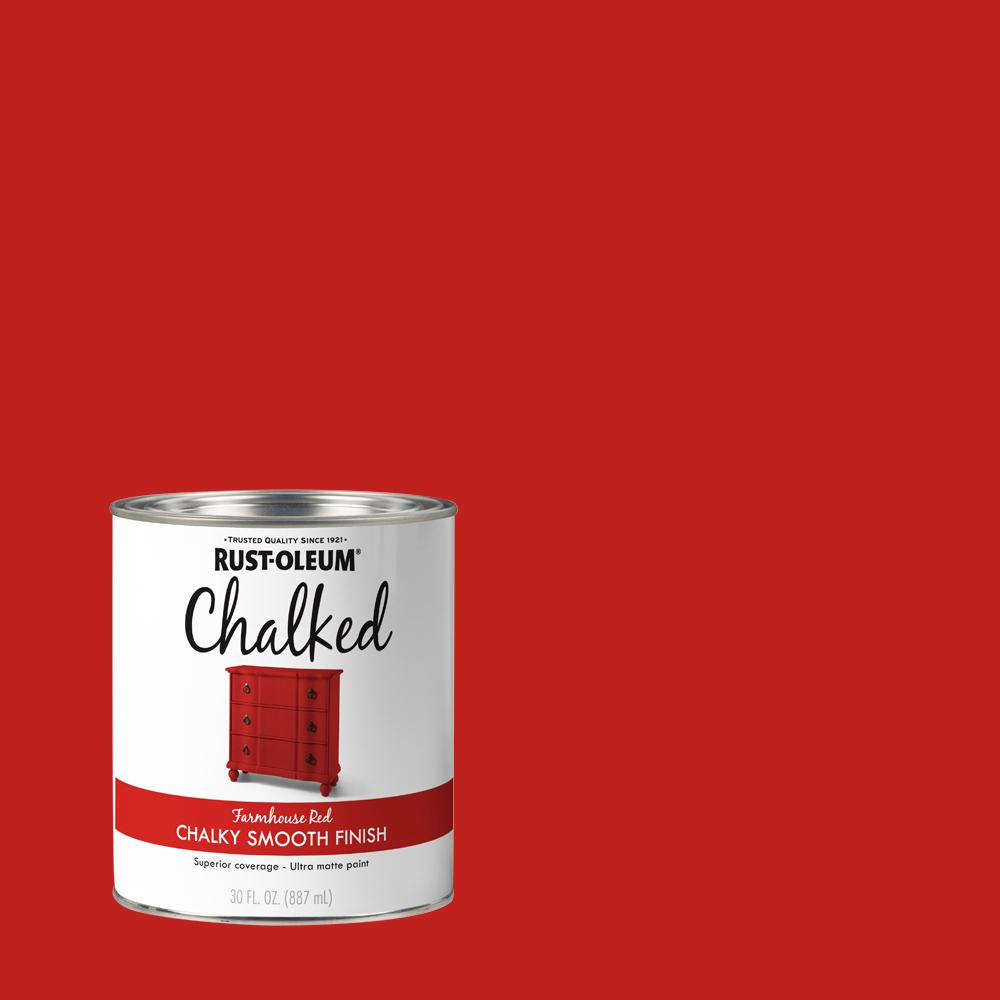 Rust-Oleum 30 oz. Farmhouse Red Ultra Matte Interior Chalked Paint (2 Pack)