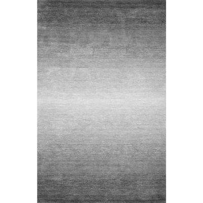 Bernetta Solid Gray 8 ft. x 10 ft. Area Rug