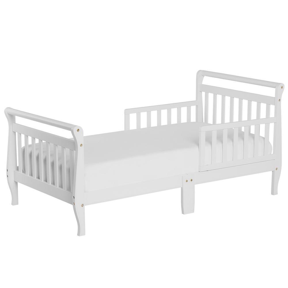 White Toddler Adjustable Sleigh Bed