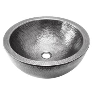 HOUZER Hammerwerks Series Pewter 16.5 inch Double Vessel Utility Sink by HOUZER