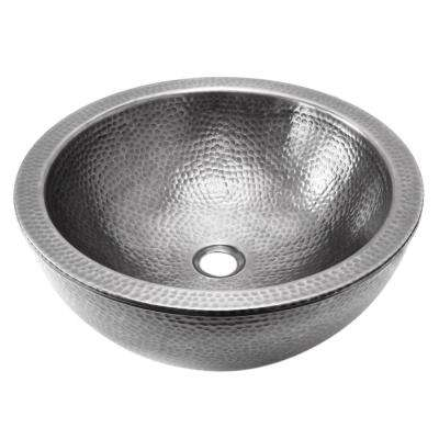Hammerwerks Series Pewter 16.5 in. Double Wall Vessel Sink
