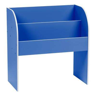 Kid's Blue Wooden Bookshelf