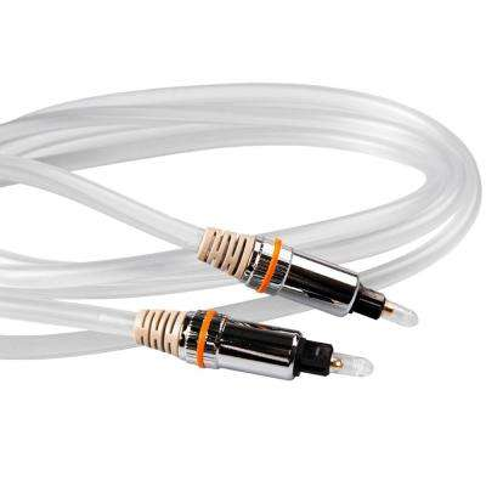 6 ft. Premium Fiber Optic Stereo Cable, White
