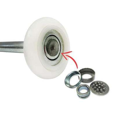 Ultra-Quiet 2 in. Nylon Garage Door Roller with 13-Ball Bearing and 4 Stem (10-Pack)