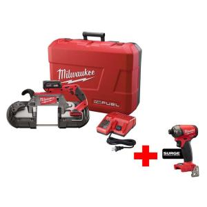 Milwaukee M18 FUEL 18-Volt Lithium-Ion Brushless Cordless Brushless Deep Cut Band Saw Kit with Free M18 Surge Impact... by Milwaukee