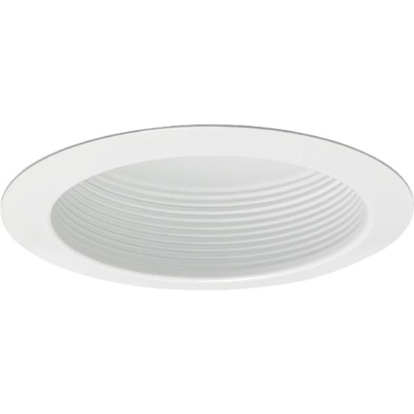 Contractor Select 5 in. White Recessed Baffle Trim