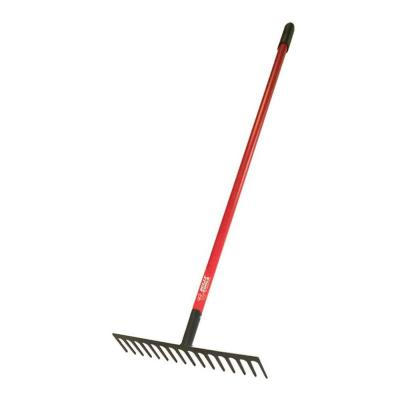 16 in. W 14-Tine Level Head Rake with Fiber Glass Handle