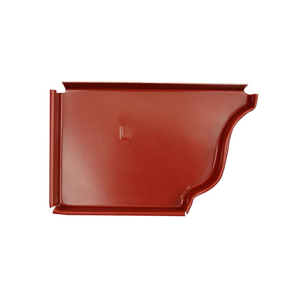 Amerimax Home Products 6 in. Red Aluminum Left End Cap