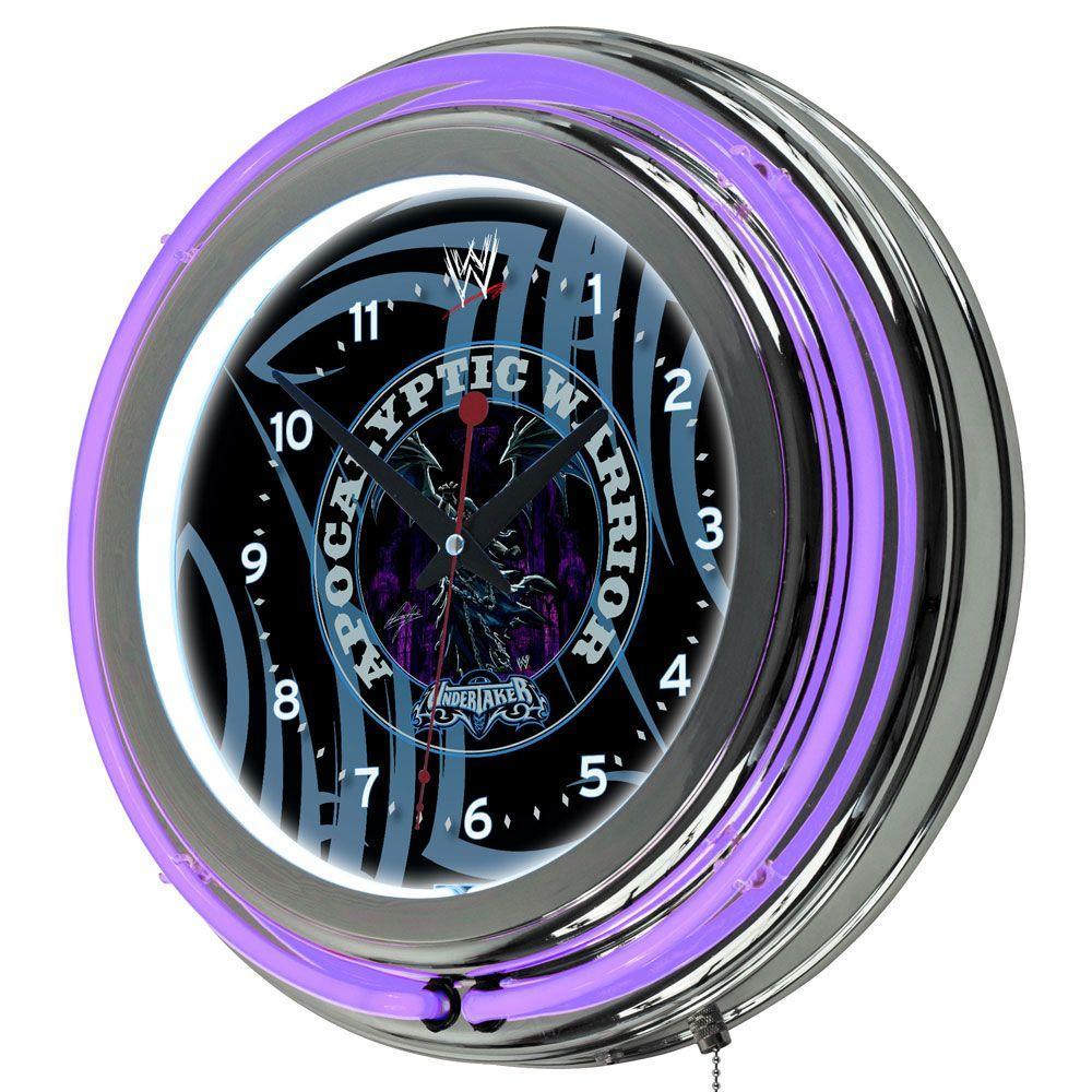 Trademark 14 in. WWE Undertaker Neon Wall Clock