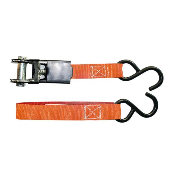 Hdx 15 Ft X 1 In Ratchet Tie Downs 4 Pack Fh0899 The Home Depot