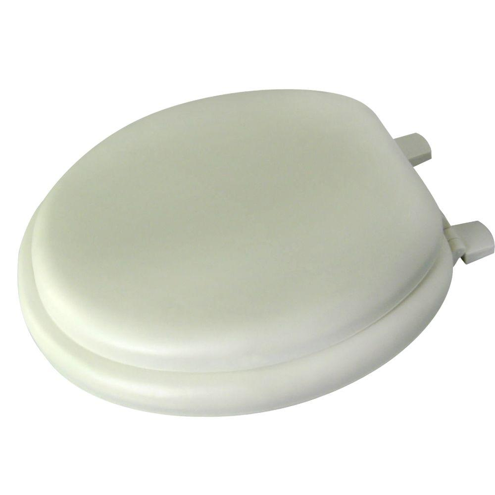 Glacier Bay Round Closed Front Toilet Seat In Bone