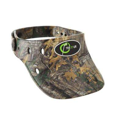 Realtree Camo Foam Hat Visor Plastic Button Adjustable Lightweight Durable Anti Mold Removable Rubber Logo Float