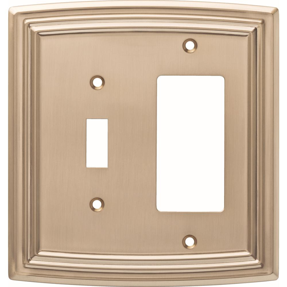 Liberty Emery Decorative Light Switch And Rocker Cover Champagne Bronze