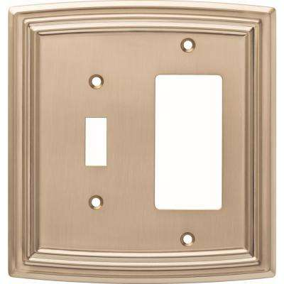 Emery Decorative Light Switch and Rocker Switch Cover, Champagne Bronze