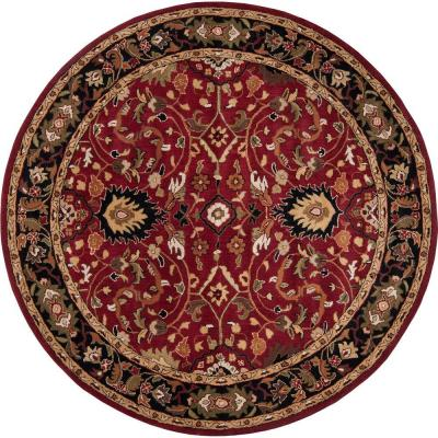 John Red 10 ft. Round Area Rug