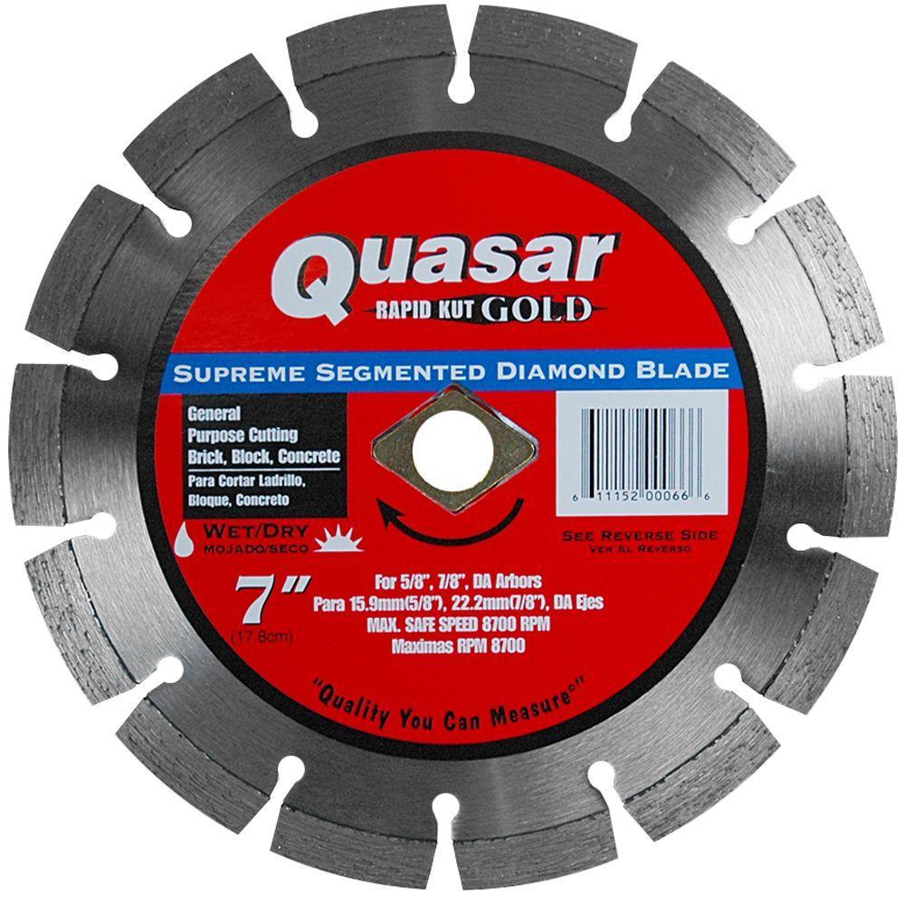 Rapid Kut Gold 7 in. Supreme Segmented Diamond Blade