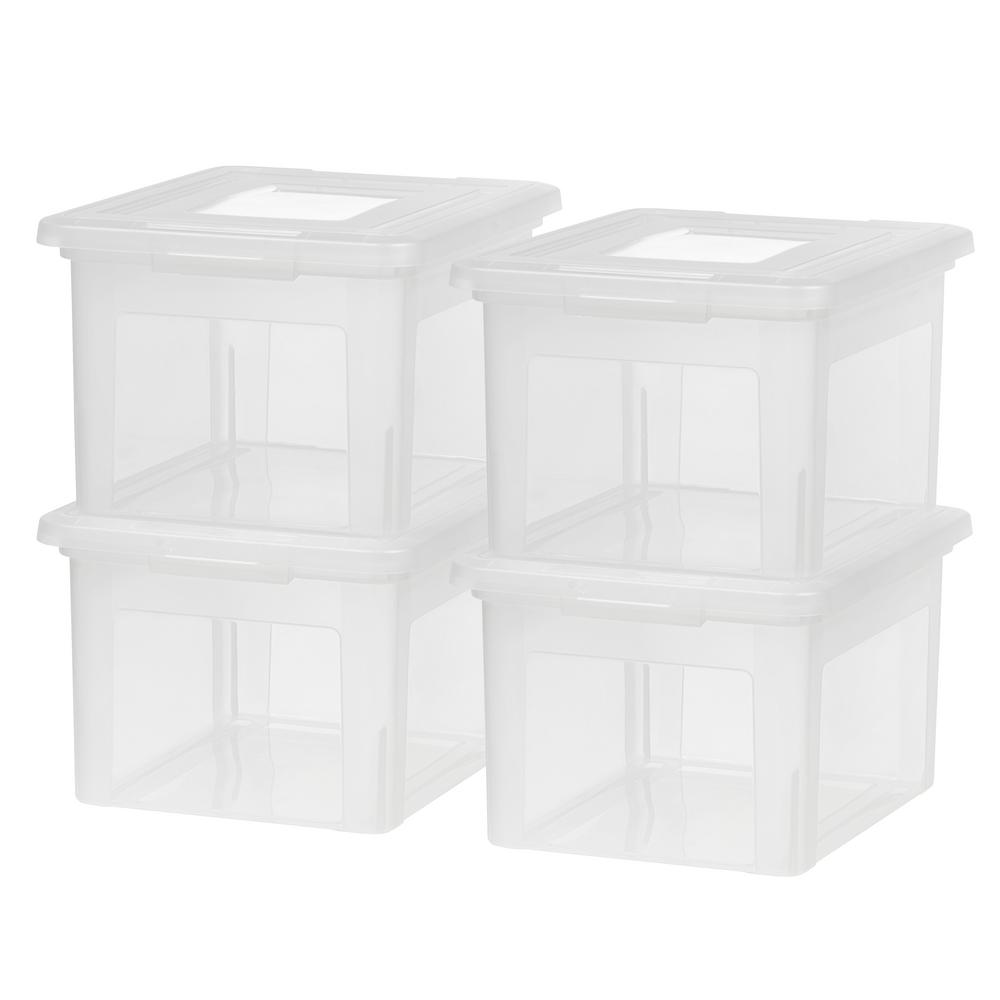 35 Qt. Dual Purpose Letter and Legal-Size File Storage Box in