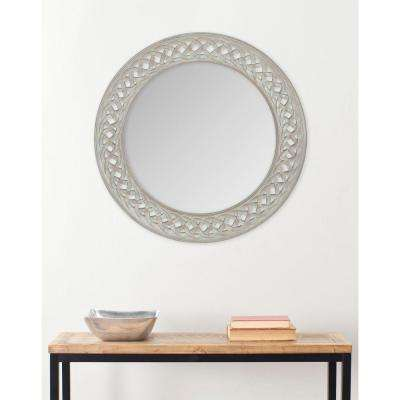 Braided Chain 24 in. x 24 in. solid Wood Framed Mirror