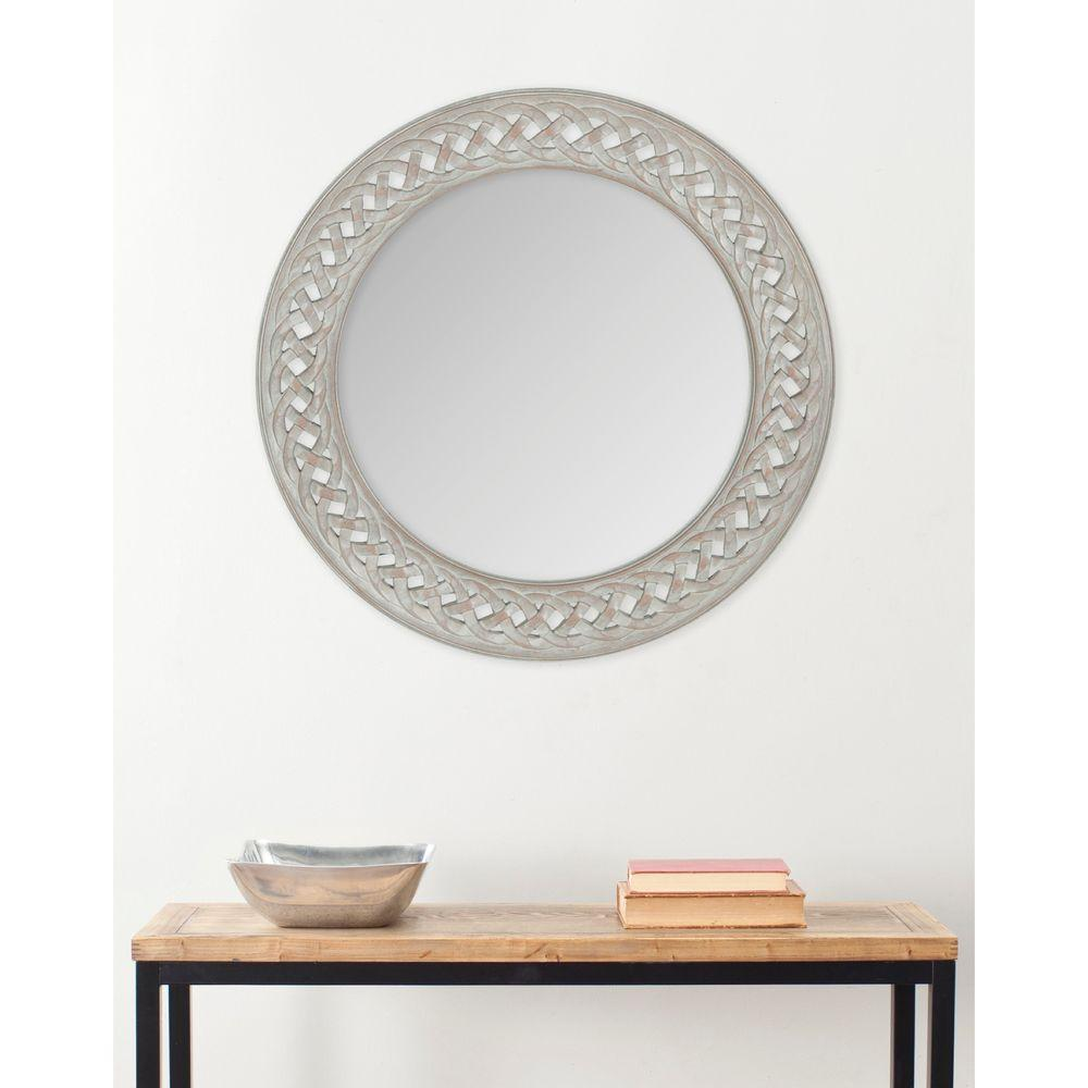 Safavieh Braided Chain 24 in. x 24 in. solid Wood Framed Mirror