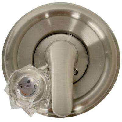 Single-Handle Valve Trim Kit for Delta Tub/Shower in Brushed Nickel (Valve Not Included)