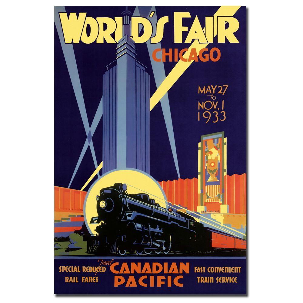 null 18 in. x 24 in. World's Fair-Chicago Vintage Canvas Art