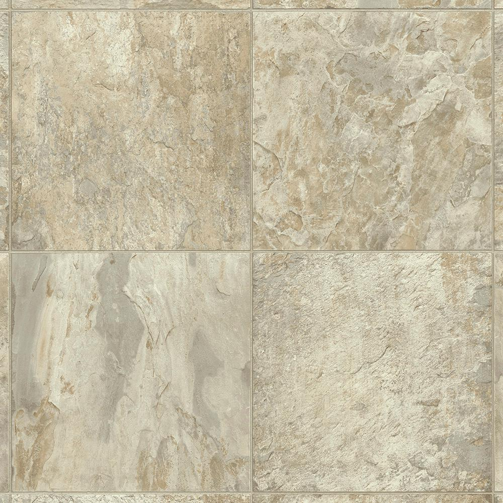 Armstrong Flexstep Value Plus 12 Ft Width X Custom Length Cafe Creme Residential Vinyl Sheet Flooring