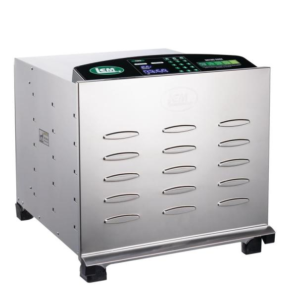 LEM 10-Tray Silver Food Dehydrator with Temperature Control 1154