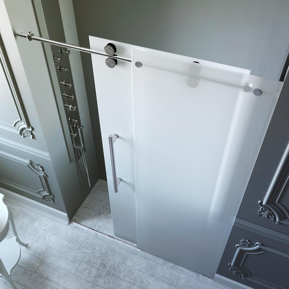 Vigo Elan 60 In X 74 In Frameless Bypass Shower Door In